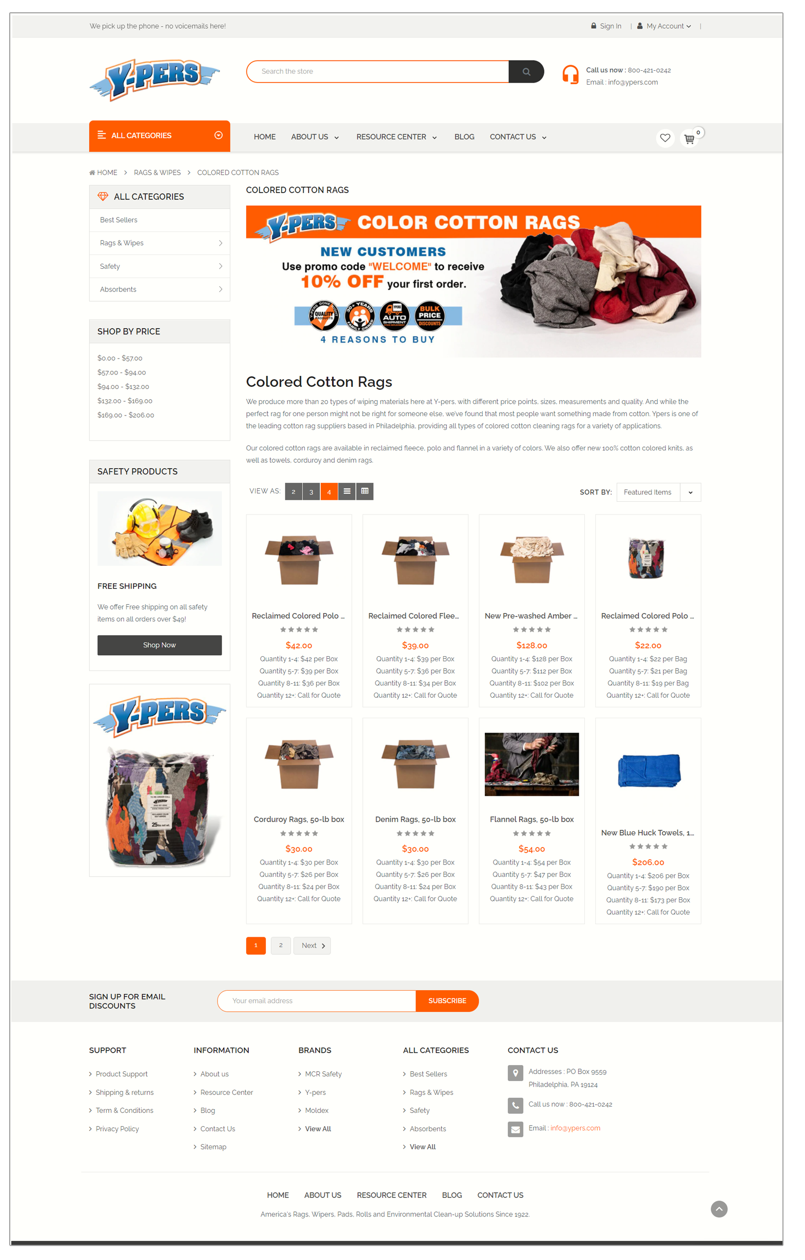 Cotton rags new site