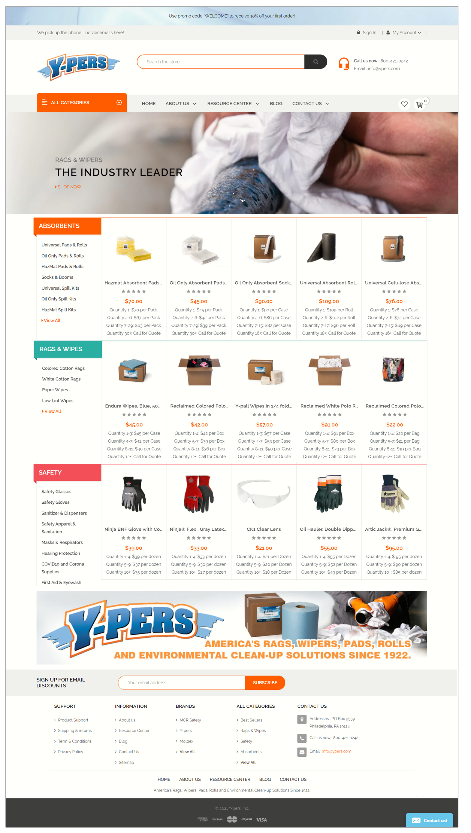 Ypers new ecommerce site